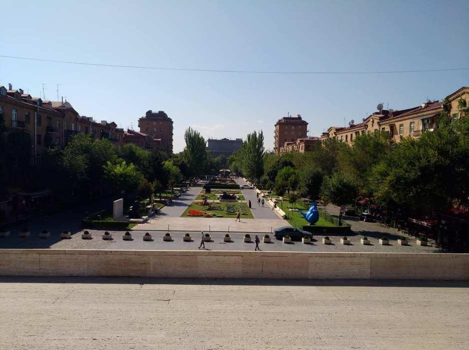 Cascata, imponente scalinata a Yerevan, Armenia