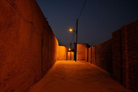 Yazd notturna, Iran, Persia